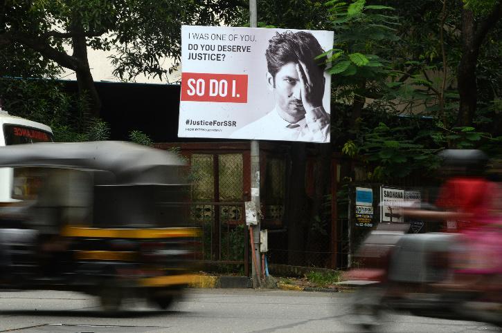 Hoarding seeks justice for Sushant Singh Rajput.