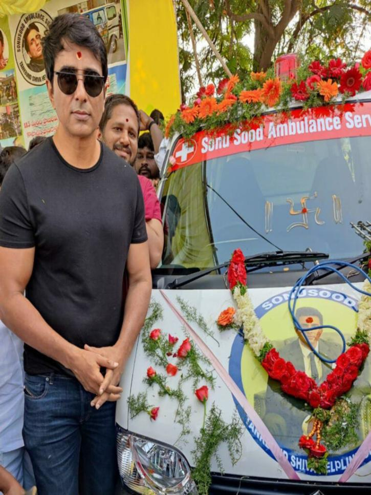 Sonu Sood at ambulance launch event / TOI