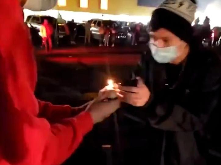 boys lighting crackers