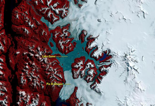 Southern Patagonia Icefield, Chile (4 October 1986 - 22 October 2016)