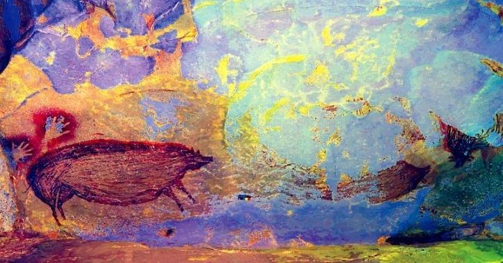 indonesia pig painting