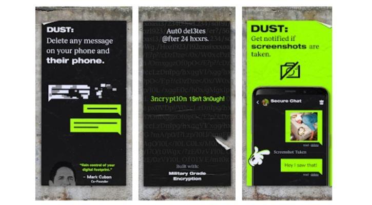 whatsapp alternative dust app