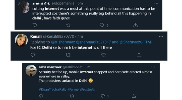 farmers protest new delhi internet shutdown