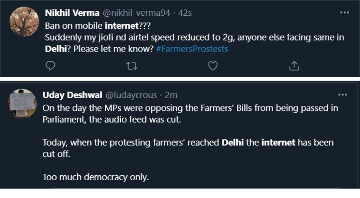 internet shutdown delhi farmer protest