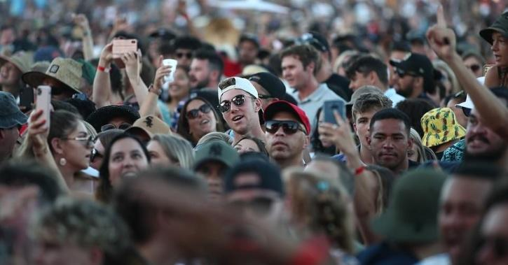 Thousands Of People Squash Into A Live Concert In New Zealand.