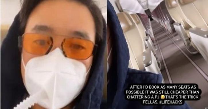 Richard on plane
