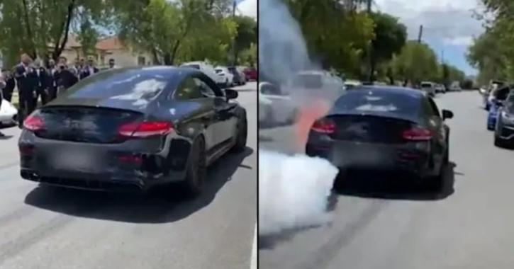 Mercedes burnout