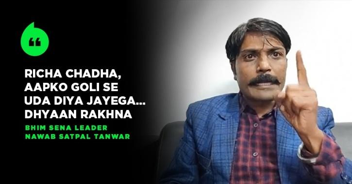 Bhim Sena Leader Threatens To Kill Richa Chadha, Offers Reward On Chopping Off Her Tongue