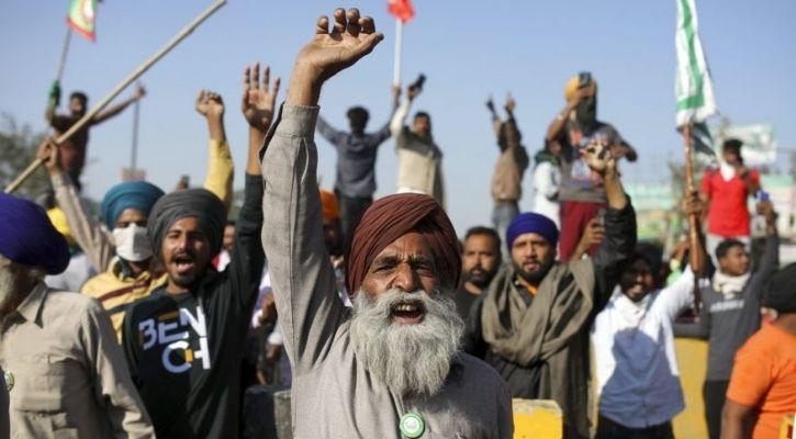 farmers protest new delhi internet