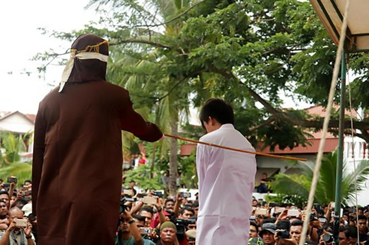 Indonesian Gay Men Flogged In Public