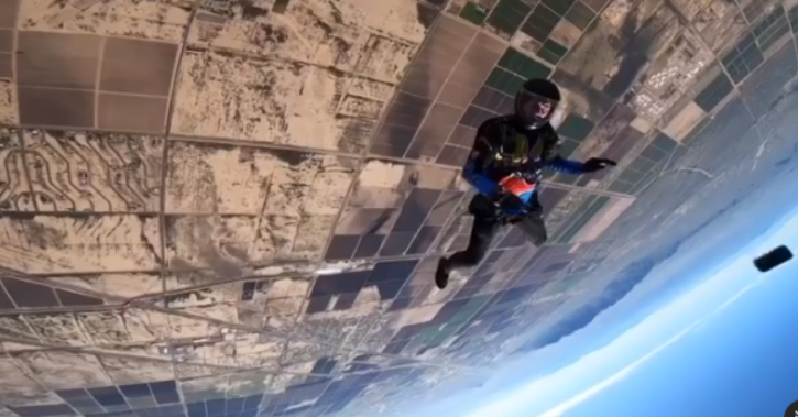A skydiver's iPhone survived a 12,000-foot fall after falling out of his pocket. He found it in working condition.