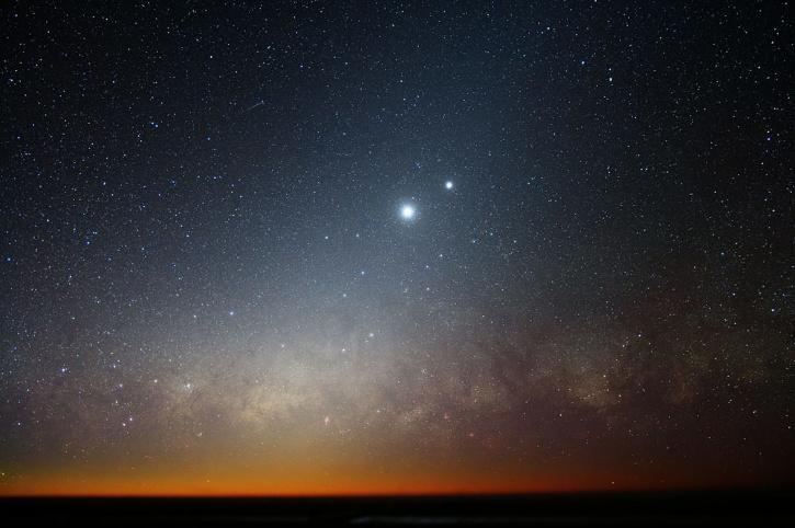 planets together in sky