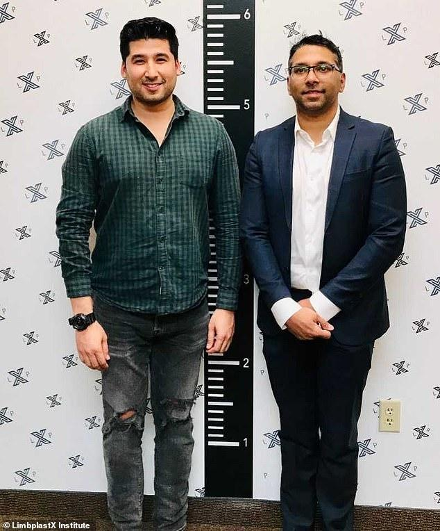 Alfonso Flores, 28, from Dallas, Texas, had wanted to be taller from the age of 12