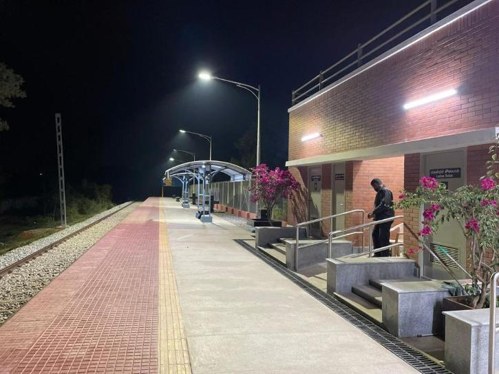 The airport halt station is situated at the edge of the Kempegowda International Airport boundary.   6 Bengaluru: From today (Monday), travellers in Bengaluru will finally be able to take a train that goes close to the Kempegowda International Airport, l