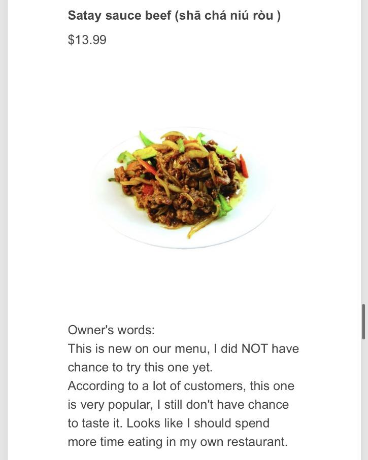 The owner of Aunt Dai said the detailed descriptions started as a way to give customers a better idea of what they were ordering.