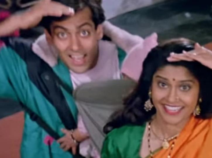Renuka Shahane and Salman Khan in Circus.
