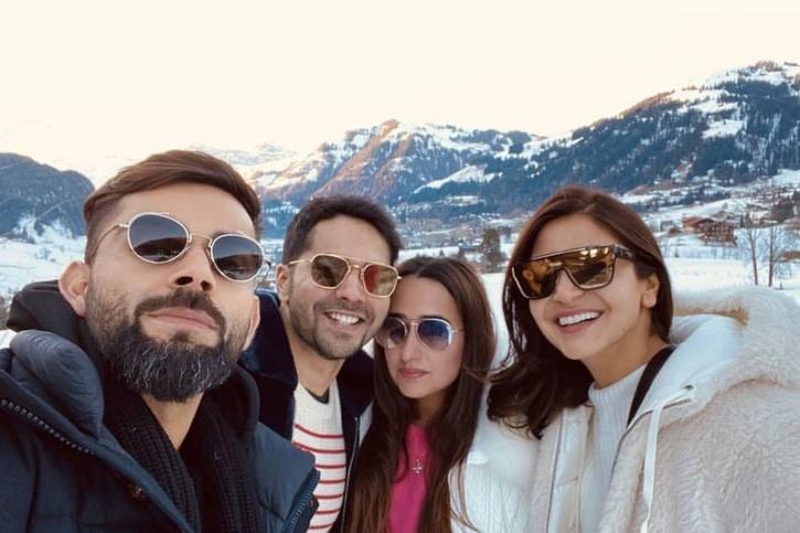 Varun Dhawan and Natasha Dalal with Virat Kohli and Anushka Sharma / Varun Dhawan Instagram