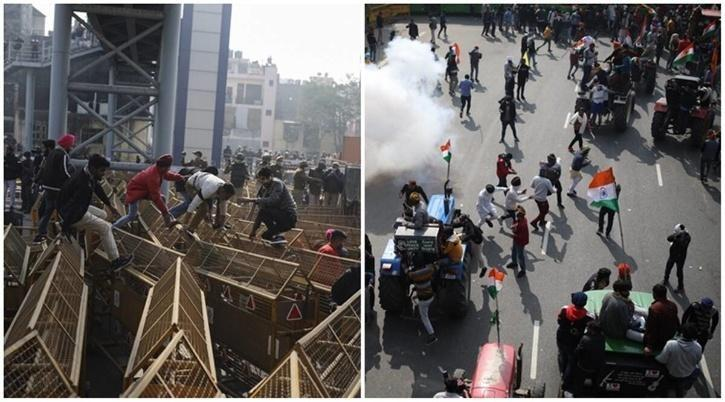 Violence at Farmers Protest / TOI