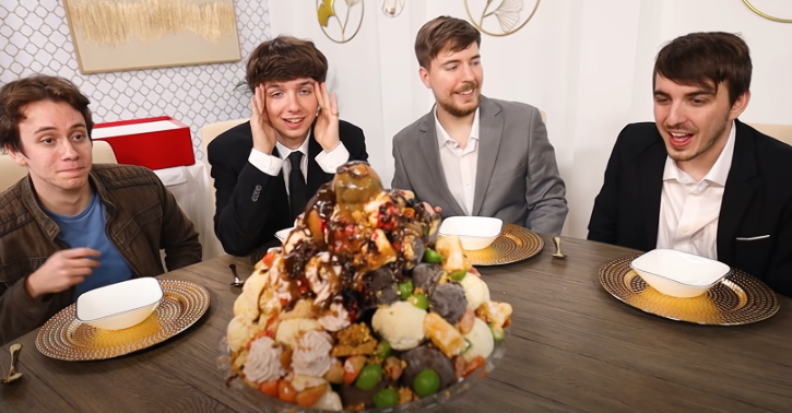 Jimmy Donaldson who runs the massively popular YouTube channel MrBeast recently paid $100,000 on a (humongous) dish of ice cream.