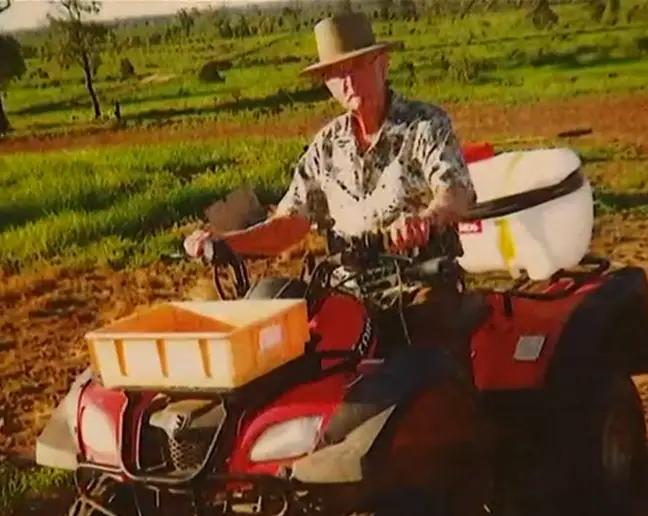 Kruger on tractor