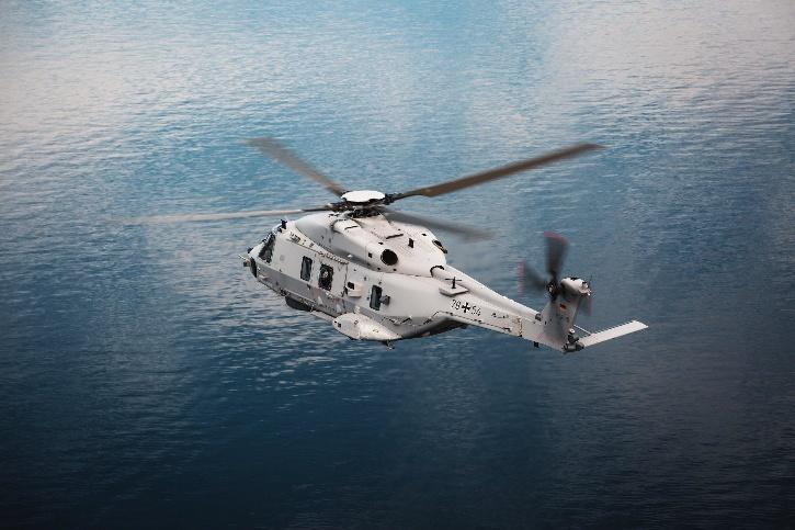 Chopper in air