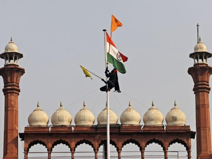 Flag at red fort