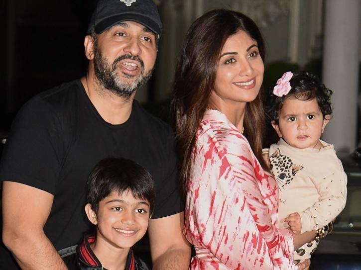 Raj Kundra with his family.