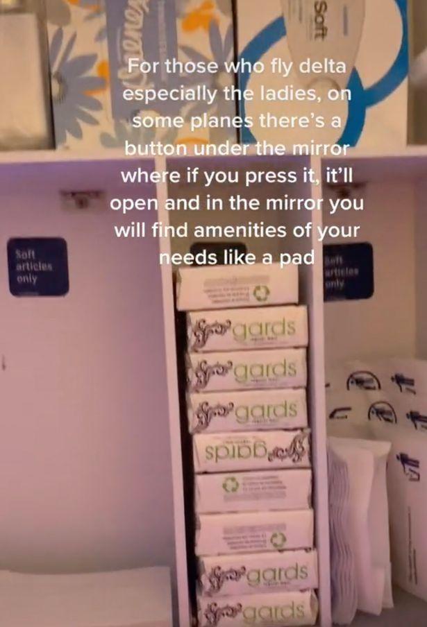 toileteries in cabinet