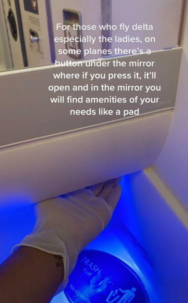 cabinet in aeroplane