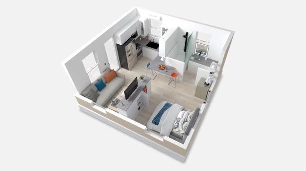 foldable, prefabricated home