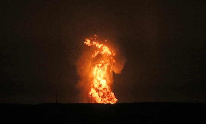 huge explosion has shaken the Caspian Sea