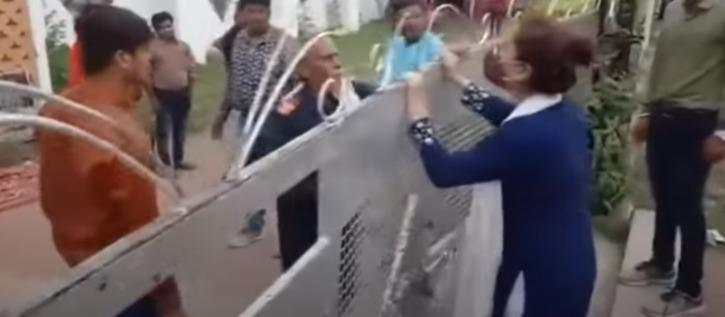 girl trying to enter the venue