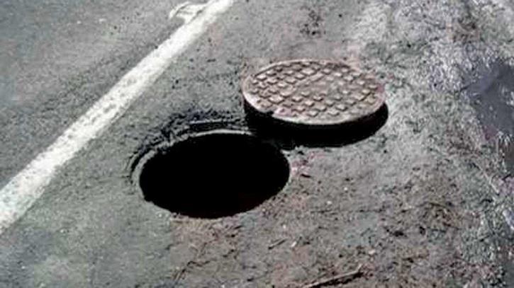 an open manhole