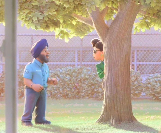 sikh caharcter in pixar movie