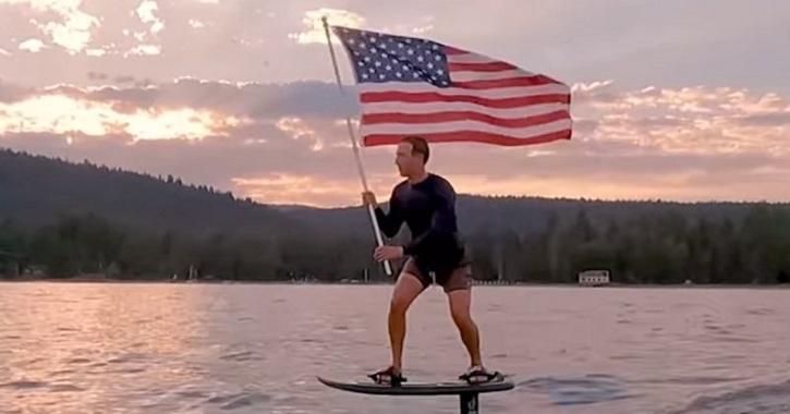 Mark Zuckerberg surfboard