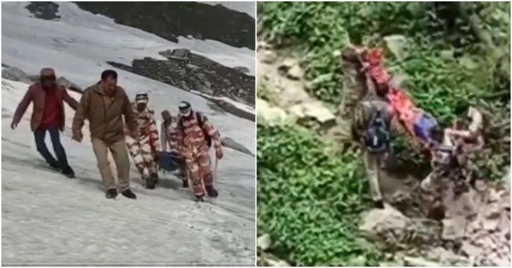 ITBP rescue trekker himachal pradesh