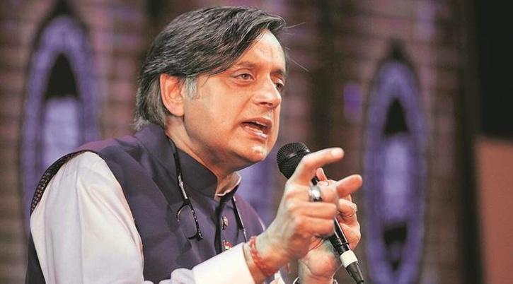 shashi tharoor talking
