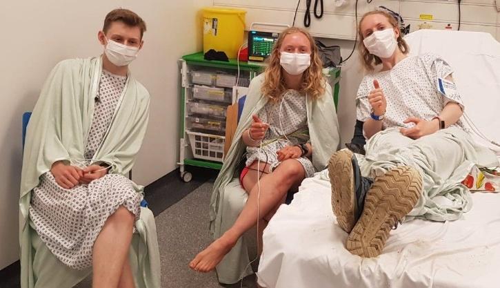 Siblings in hospital