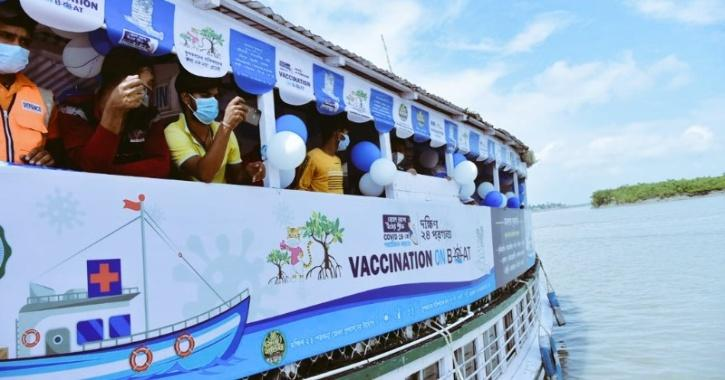 vaccination on boat