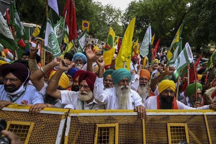 farmers-parliament protest