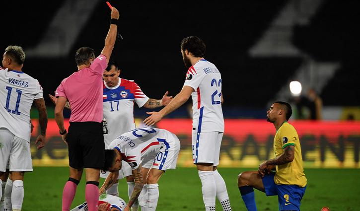 Gabriel Jesus red card
