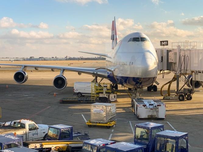 aeroplane at the airport