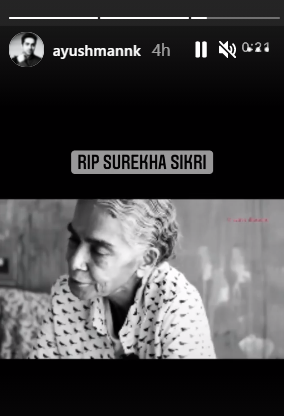 Ayushmann Khurrana Shares Surekha Sikri's Viral Video Of Reciting Mujshe Pahli Si As He Mourns Over Her Death