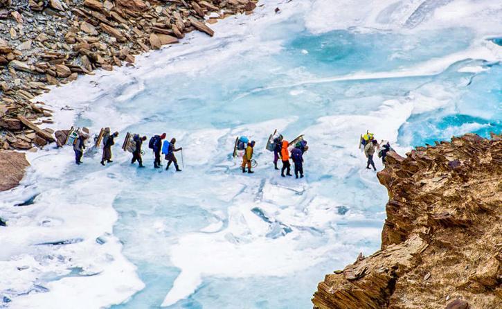 Zanskar frozen river trek