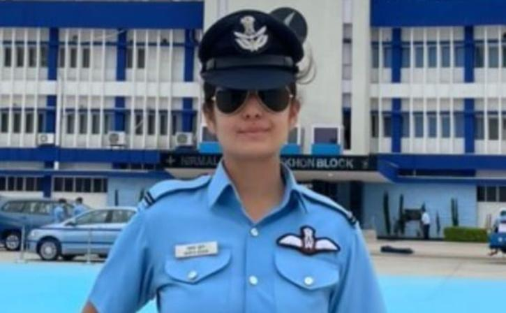 Mawya Sudan commissioned as a flying officer in the Indian Air Force