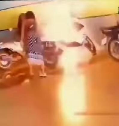 Woman out to seek revenge, sets fire to ex's bike