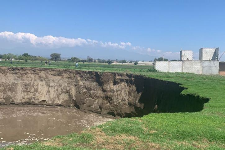 The massive sinkhole in Mexico was initially 15 feet across