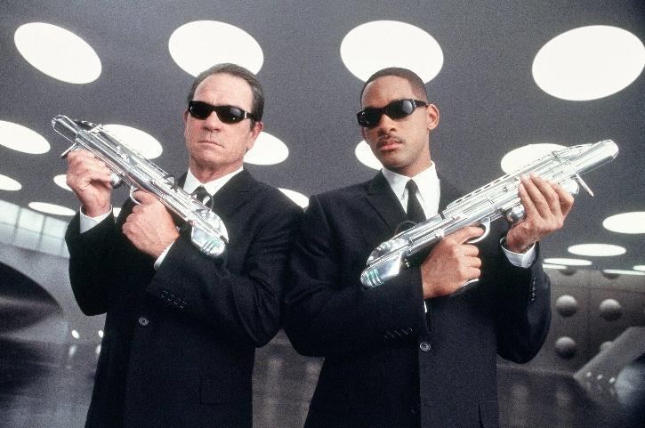 Agent K and Agent J in Men In Black