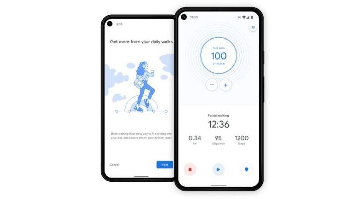 google fit walking pace