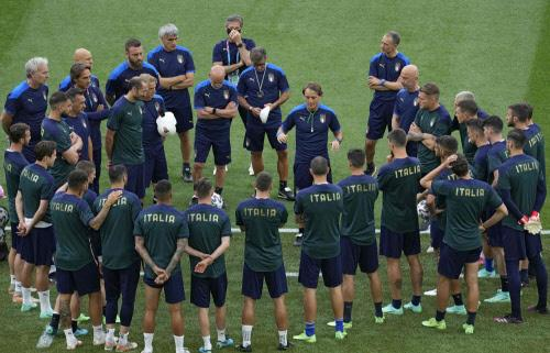 Italian team meeting, Euro 2020